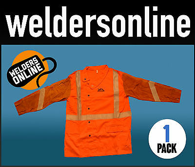 WELDERS LEATHER / PROBAN COAT Jacket by Unimig XXL Free Delivery - Orange & Tan