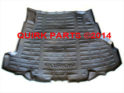 2007-2012 Ford Fusion Black All Weather Rubber Trunk Cargo Protector Mat OEM NEW
