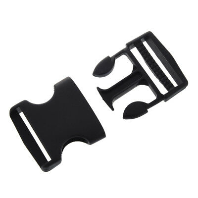 "1 1/2"" Replacement Belt Connecting Black Plastic Quick Release Buckle WS"
