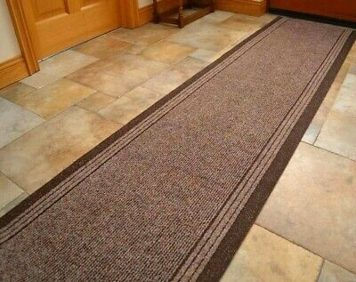 Brown New Industrial Non Slip Long Runner Cut to Measure Kitchen Hall Carpet Mat
