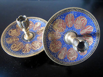 PAIR OF PERSIAN CANDLESTICK
