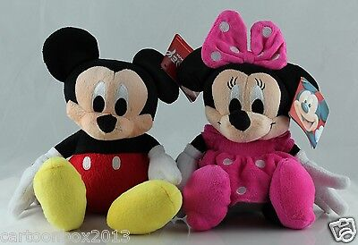 DISNEY Mickey Mous Mickey and Minnie mouse soft  plush dolls toy 1 set of 2pcs