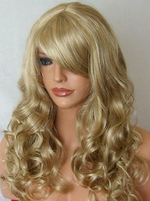 Wig Curly Long Full Women Fashion natural Blonde Ladies cosplay dress up wig M20