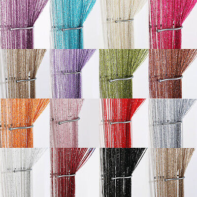 Glitter String Curtain Panels ~ Fly Screen & Room Divider ~ Voile Net Curtains