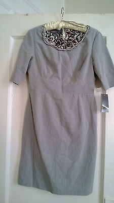 DONNA RICO !! AMAZING NECKLACE GREY DRESS !! CAREER !! MUST SEE ! 8P