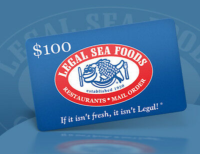 $100 Legalseafoods gift card