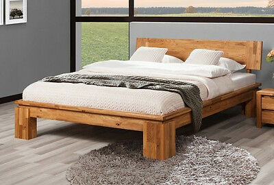 bett 180x200 eiche ge lt bettgestellt massiv holz doppelbett zamora eur 665 91 picclick de. Black Bedroom Furniture Sets. Home Design Ideas