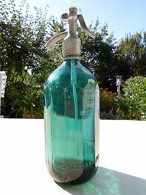 VINTAGE ANTIQUE  SODA SIPHON SELTZER GLASS SIFONE 1930