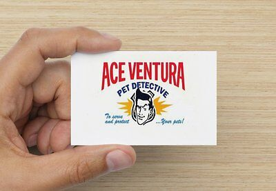 Ace Ventura Pet Detective Business Card Fancy Dress Prop Chat Up Stag Night Fun