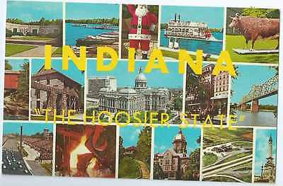 "16 Views of Indiana "" The Hoosier State "", Unposted- Postcard"