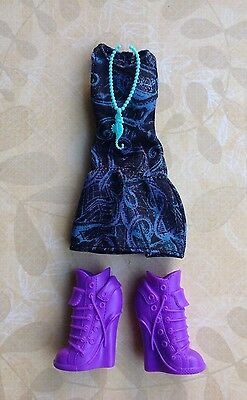 MONSTER HIGH ~ Lagoona Disembody DRESS NECKLACE SHOES CLOTHES OUTFIT ~ New