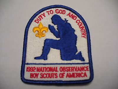 Boy Scout Patch - God and Country 1992 National Observance - BSA - NEW