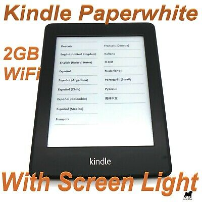 Amazon Kindle Paperwhite 1 (5th Generation) 2GB, Wi-Fi, 6in - Black (EY21)