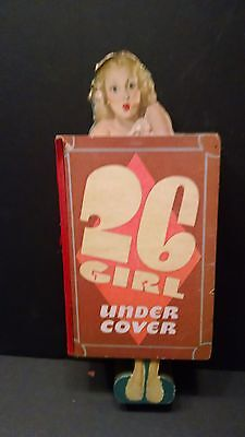 Vintage 1940'S 26 Girl Under Cover Punch Board With Punch&Pay Out Sheet