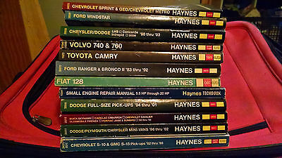 Haynes Auto Repair Manual - Your Choice Free S/H - Toyota, Ford, Chevy, GM,