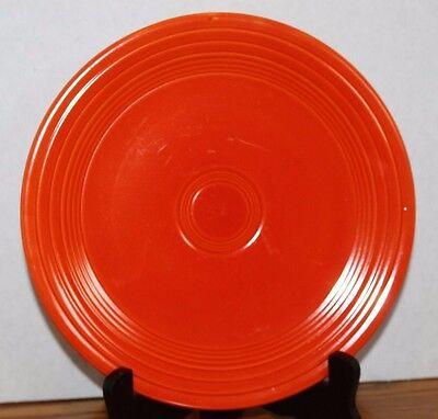 "Vintage Orange/Red HOMER LAUGHLIN FIESTA 9 & 1/2"" DINNER PLATE Fiestaware"