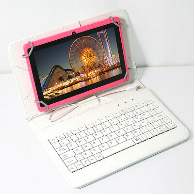 """7"""" Google Tablet PC Android 4.2 WIFI A23 Dual Core Camera Pink 16GB W/Keyboard"""