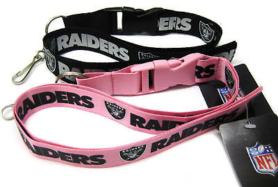 Oakland Raiders Black And Pink Lanyards Pack