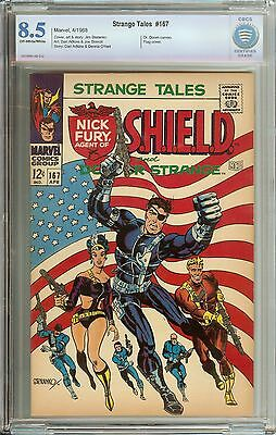 Strange Tales #167 Cbcs 8.5 Ow/wh Pages // Jim Steranko Story/cover/art