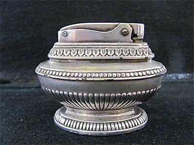 Ronson Silver Plate Queen Anne Table Top Lighter Vintage