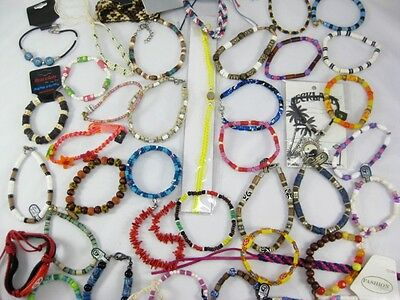 New Lot of 40 Below Wholesale Assorted Beachy Surfer Style Bracelets