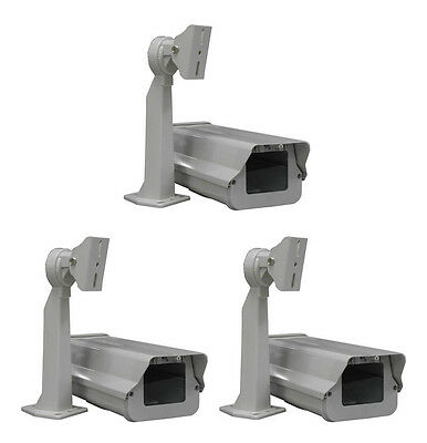 Smart Security Club Pack of 3 Outdoor Camera Housing, Heater, Fan, Mount