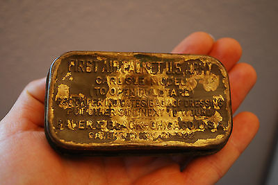 Army FIRST AID Kit Box - 1922 BRASS