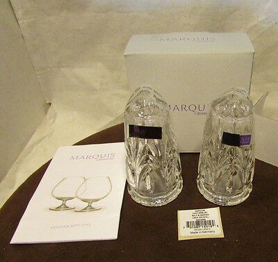 Waterford Marquis Canterbury Leaded Crystal Salt & Pepper S NIB  Made In Germany
