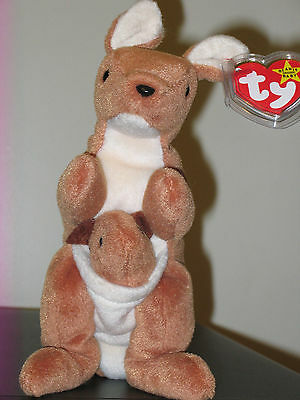 Ty POUCH the Kangaroo Beanie Baby ~ MINT ~ RETIRED
