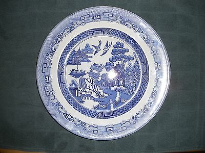 """Johnson Brothers 10 1/2"""" plate - """"Willow"""" pattern"""