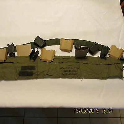 M1 GARAND BANDOLIER REPACK KIT, ALL YOU NEED IS THE AMMO-ALL PARTS NEW OR CLEAN
