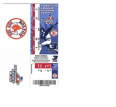 Boston Red Sox 2004 ALDS Ticket Attached Home Game 3 Mint Unused Fenway Park