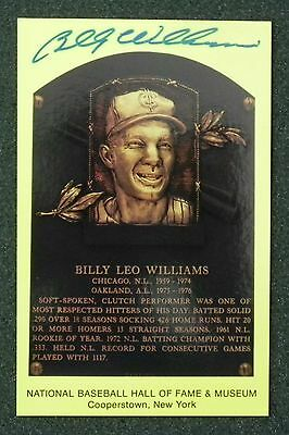 BILLY WILLIAMS signed Hall Of Fame Postcard Obtained In Person at Sports Sports