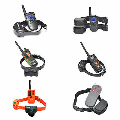 Waterproof Rechargeable Remote Shock Pet Dog LCD Backlight Training Bark Collar