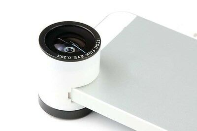 Rotatable 3in1 Fish eye + Macro + Wide Angle Phone Camera Lens for iPhone 4S & 4