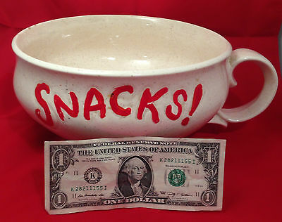 Large Vintage McCoy Pottery Coffee Cup Snacks/Coffee Cup/Bowl Made in USA