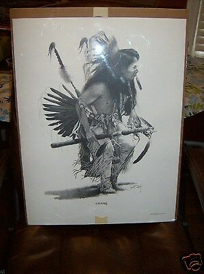 "LEE CO,GA 1993 CHEHEW NATIONAL INDIAN FESTIVAL( CREEK) DRAWING 23"" X 18 X .25"