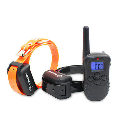 330 Yards Rechargeable Waterproof Remote Shock Pet 2 Dog Training Bark Collar US