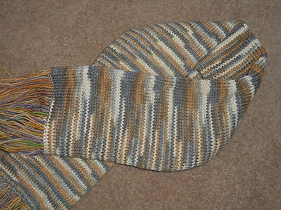 """New Nice Wool Yarn Hand Made  Scarf in Multi Color 40"""" Long"""