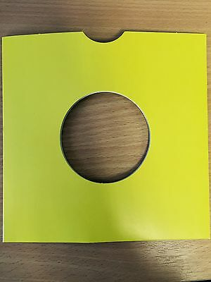 """25 X 7"""" Yellow Card Record Masterbags Sleeves / Covers *new*"""