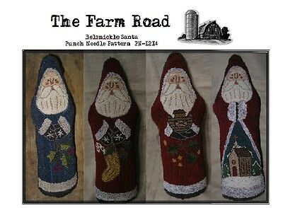 Primitive Punch Needle Belsnickle Santa PAPER PATTERN by The Farm Road