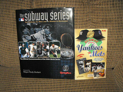 LOT OF 2 THE SUBWAY SERIES 2000  NEW YORK YANKEES VS NEW YORK METS BOOKS AWESOME