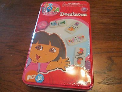 DORA THE EXPLORER DOMINOES GAME NICK JR. METAL BOX Ages 5+ In Wrapper Boys/Girls