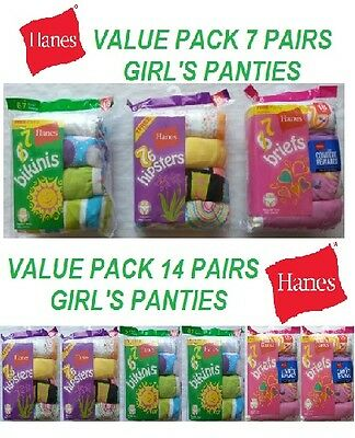 Hanes Value Pack Girls Panties Size 16 ( Briefs, Hipsters, Bikinis )