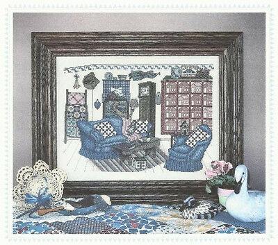 Country Parlor - Counted Cross Stitch Pattern - Linda Myers Designs