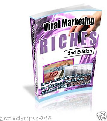 Viral Marketing Riches Ebook or CD and resell rights+++
