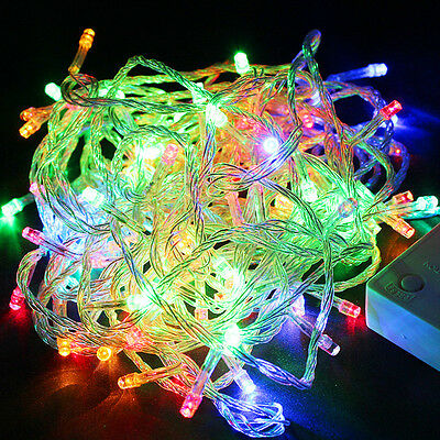 Multi-color 10M 100 LED Bulbs Christmas Party String Lights, Waterproof