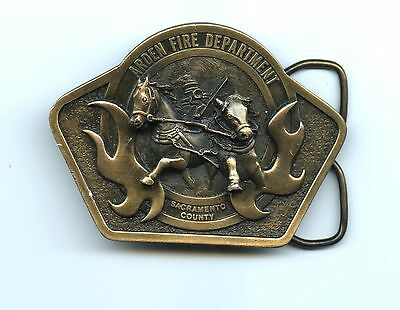 Beautiful, High-Relief Sacramento, CA Arden Fire Dept. Belt Buckle