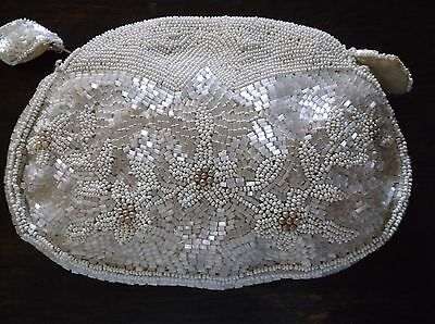 Vintage Antique Beaded Clutch Evening Purse Made in France