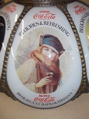 Coca Cola  Stained Glass Style celling Lamp Shade Replacement one only